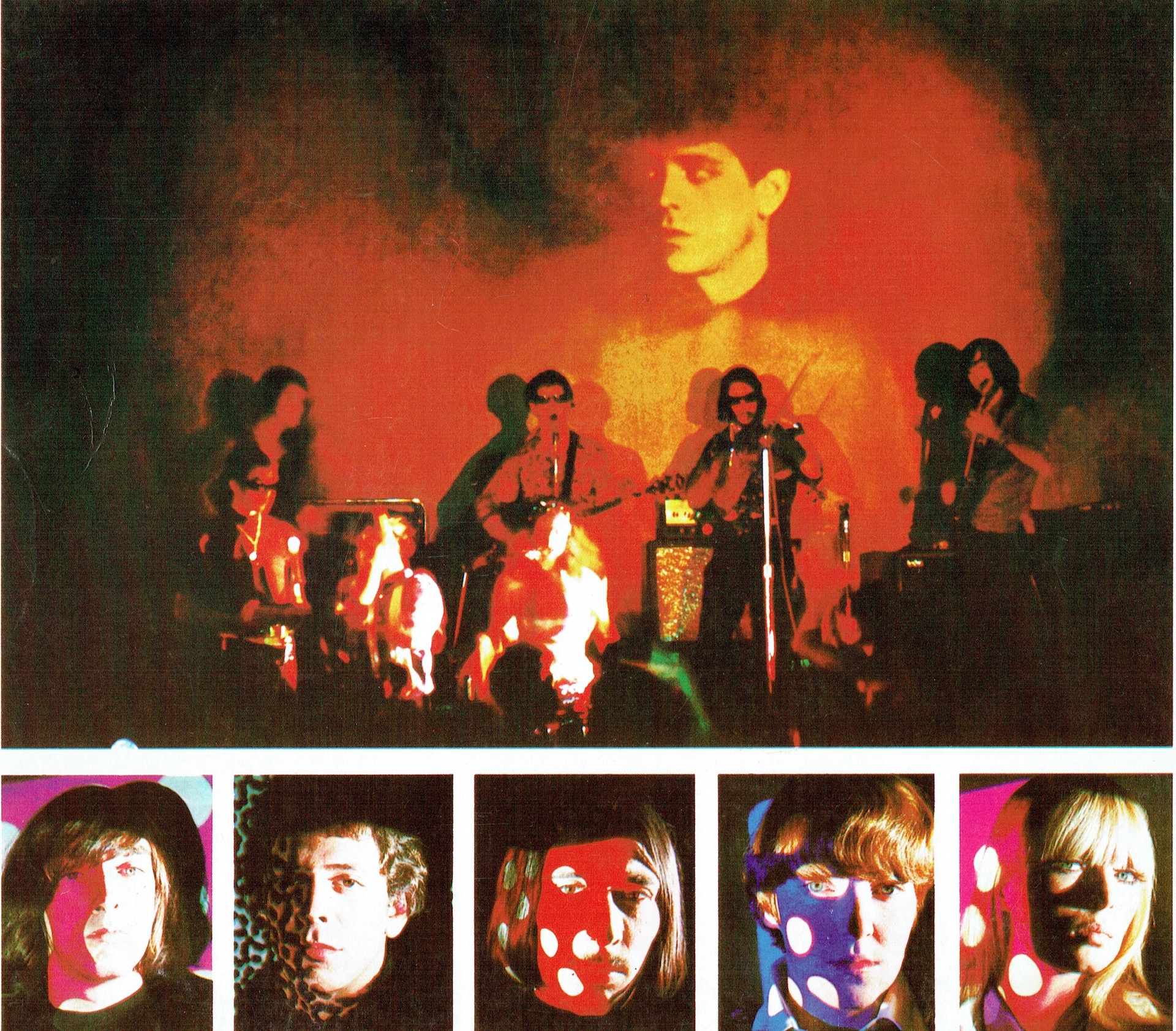 "Artwork from The Velvet Underground's self-titled first album, credited to ""Hugo"" and Paul Morrissey"