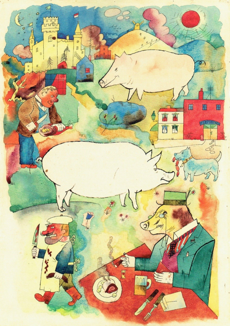 George Grosz, Sonniges Land (1920), watercolour, reed pen, pen and ink. ©DACS 2013