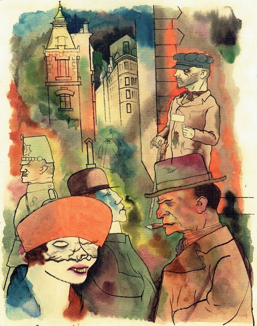 George Grosz And The Necessity Of Offence Wessie Du Toit